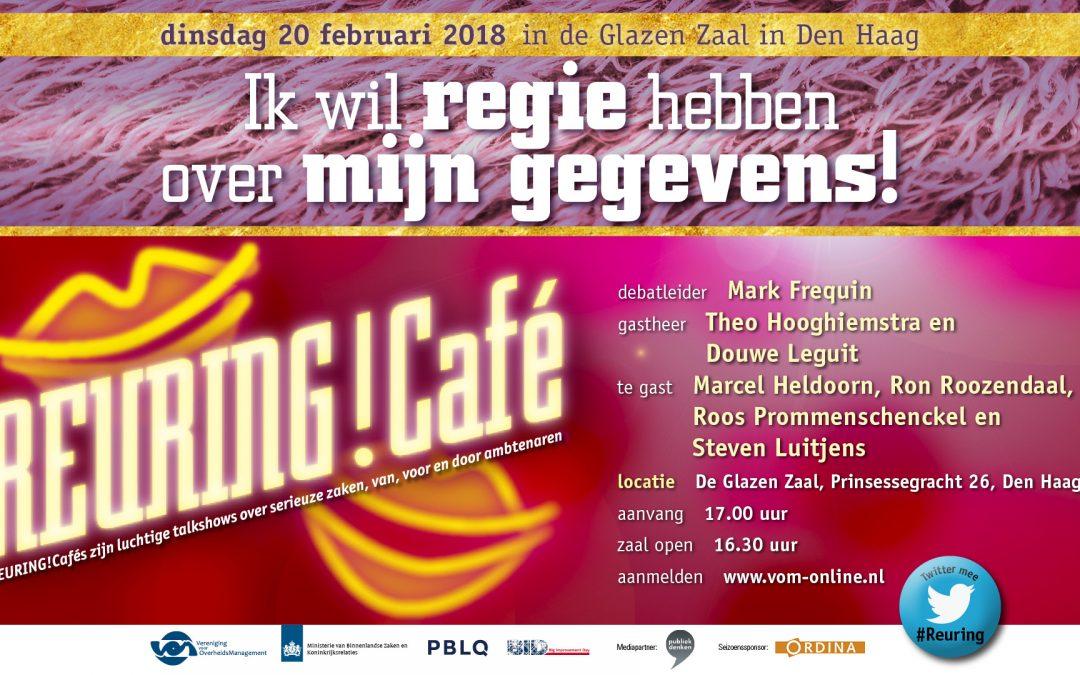 Verslag Reuring!Café #83   Regie op gegevens   20 februari