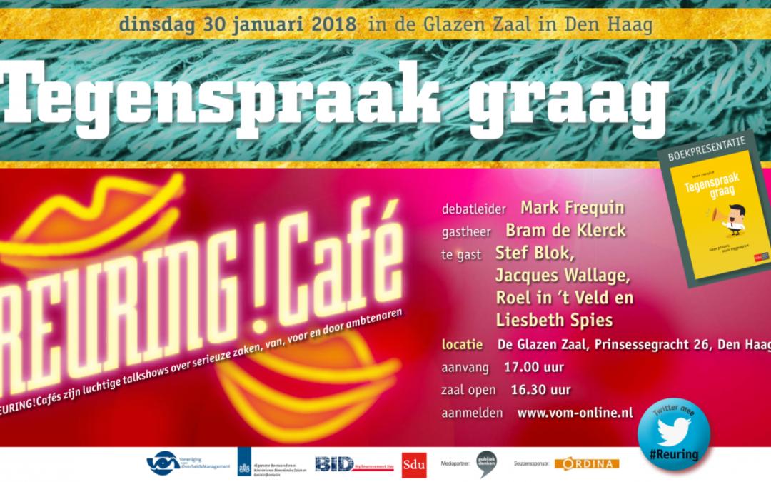 Verslag Reuring!Café #82 | Tegenspraak graag! | 30 januari