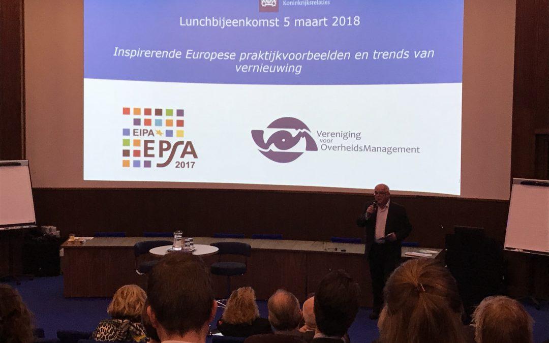 Innovatie en vernieuwing in Europa | Verslag lunchbijeenkomst | 5 maart
