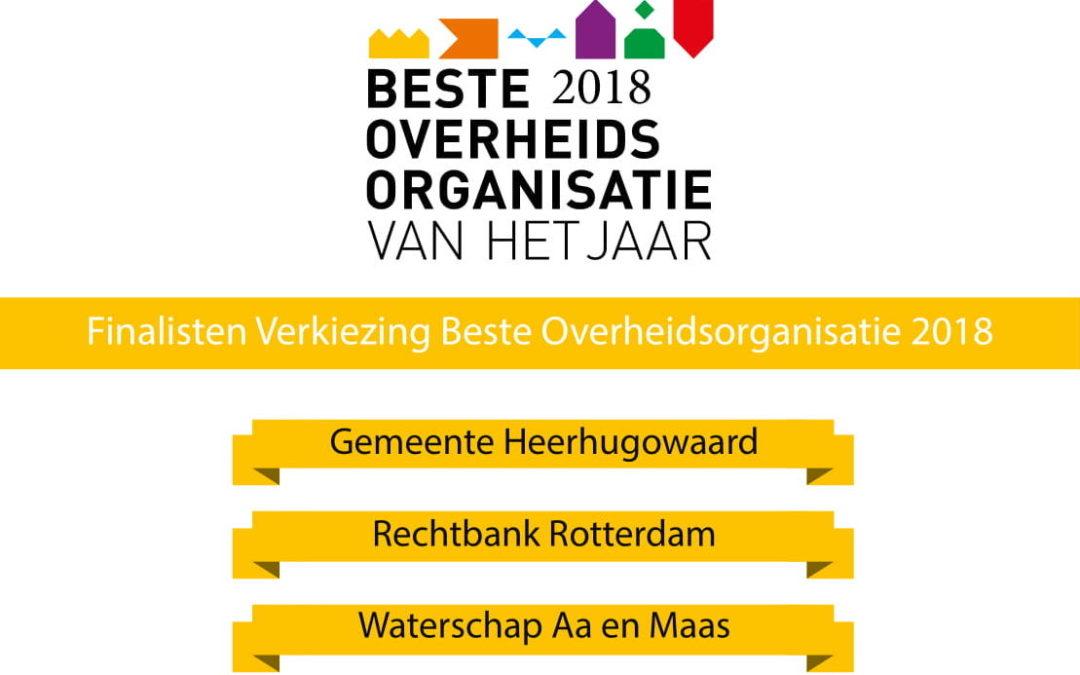 Verkiezing Beste Overheidsorganisatie van het Jaar | Finalisten bekend! | 11 september