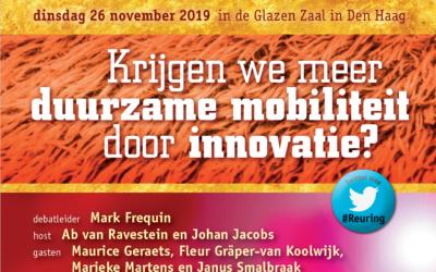 Reuring!Café #96 | Krijgen we meer duurzame mobiliteit door innovatie? | 26 november