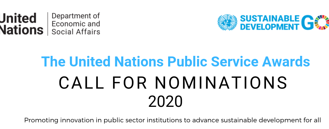 UN Public Service Awards | Nominatieperiode open | tot 27 november