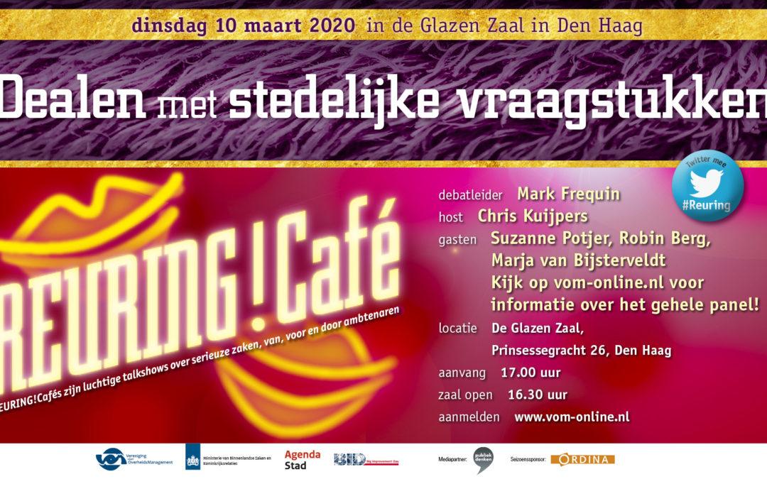 Reuring!Café #99 | Dealen met stedelijke vraagstukken | 10 maart