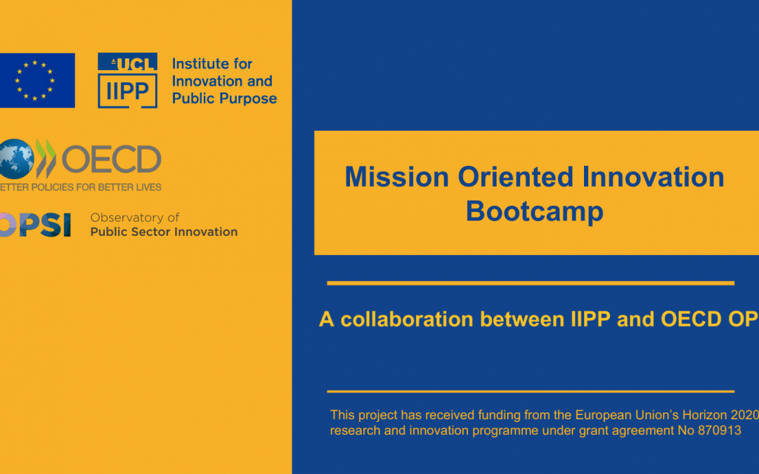 Mission-Oriented Innovation Bootcamp – 2 december 2020