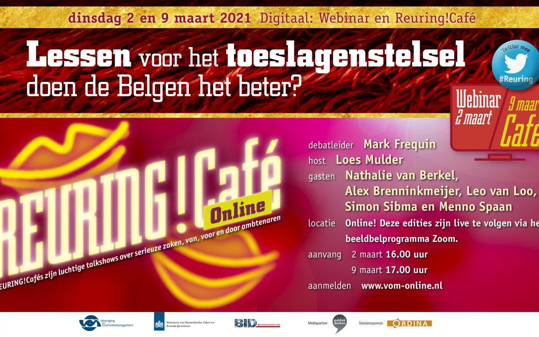 Reuring!Online | Lessen voor het toeslagenstelsel; doen de Belgen het beter? | 2 en 9 maart
